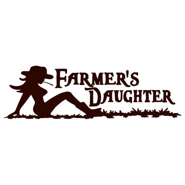 Farmers Daughter Decal Sticker