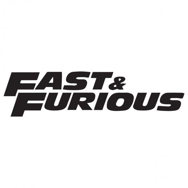 Fast And Furious Decal Sticker