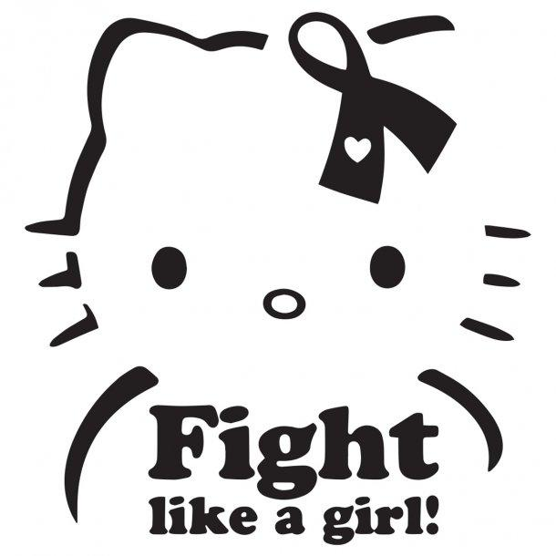Fight Like A Girl Kitty Decal Sticker
