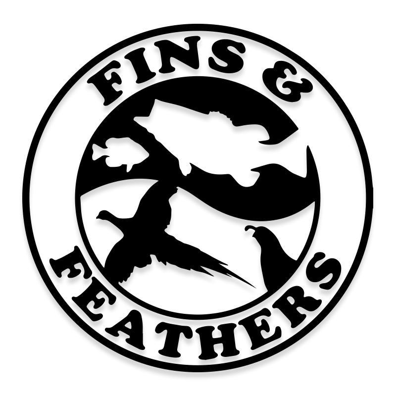 Fins and Feathers Hunting and Fishing Decal Sticker