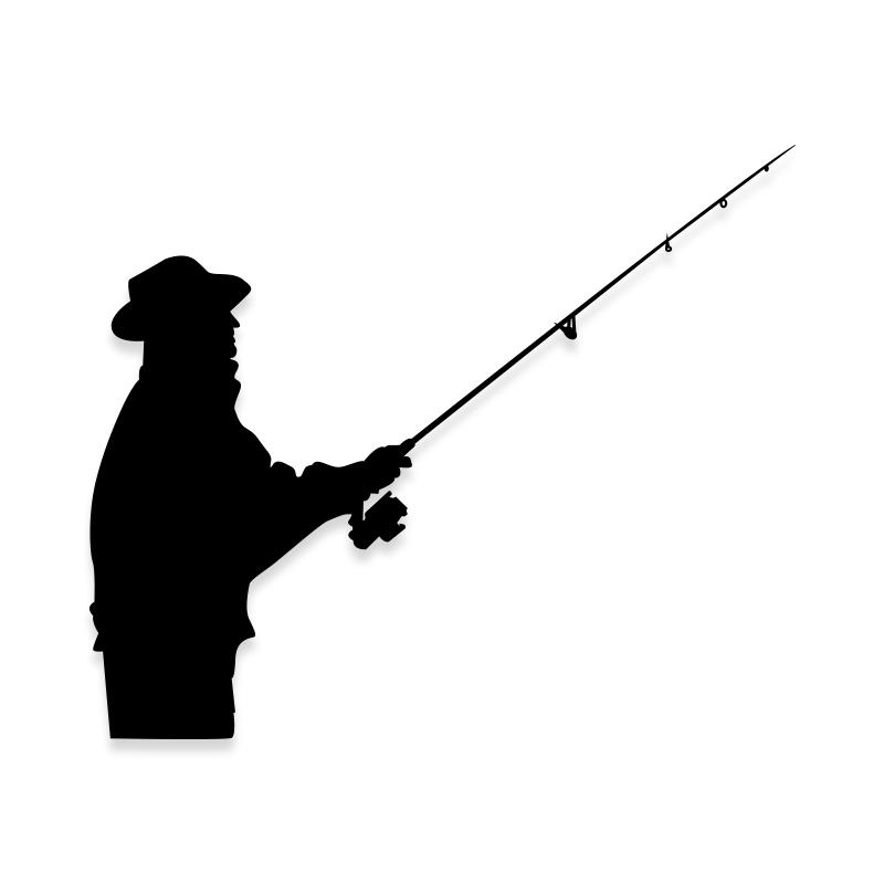 Fisherman Sticker Decal