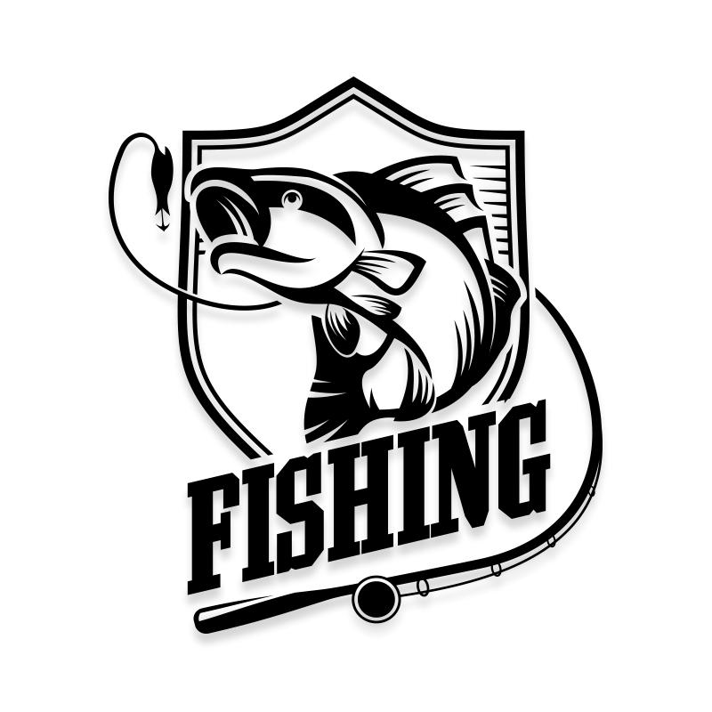 Fishing Car Decal Sticker