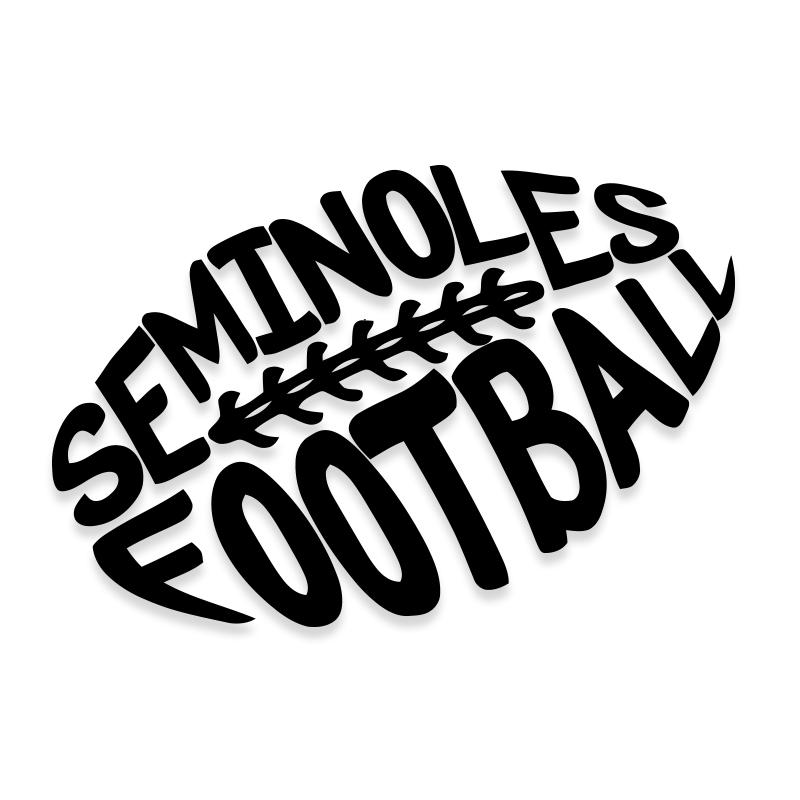 Floridia State University Seminoles Football Car Decal