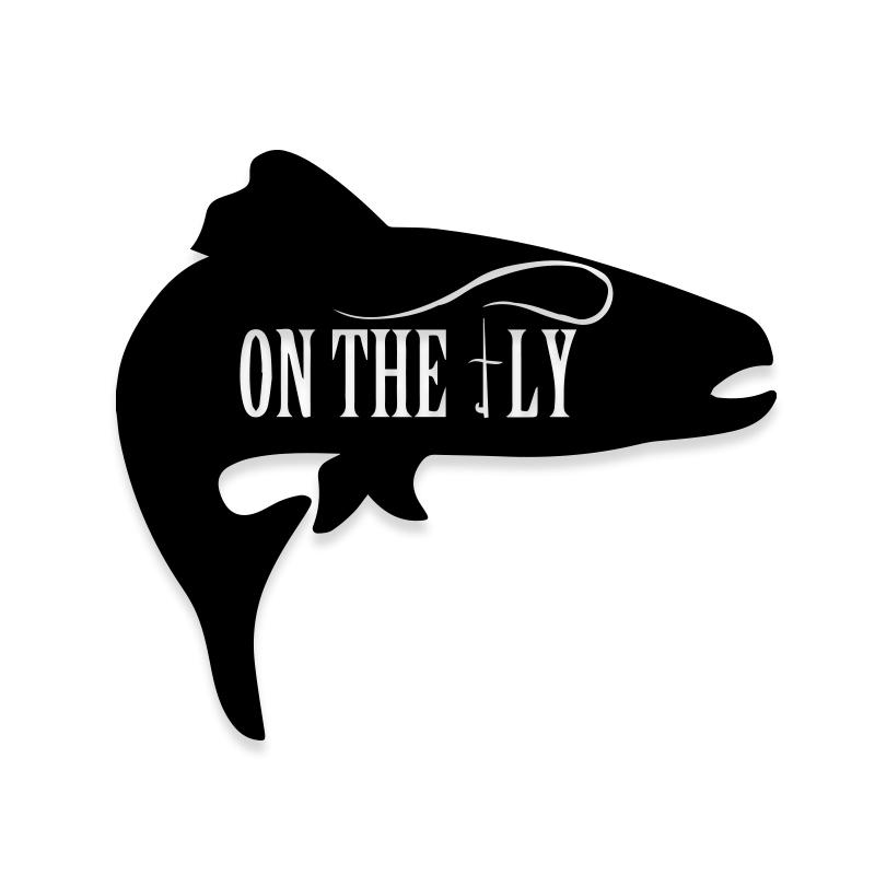 Fly Fishing on the Fly Decal Sticker