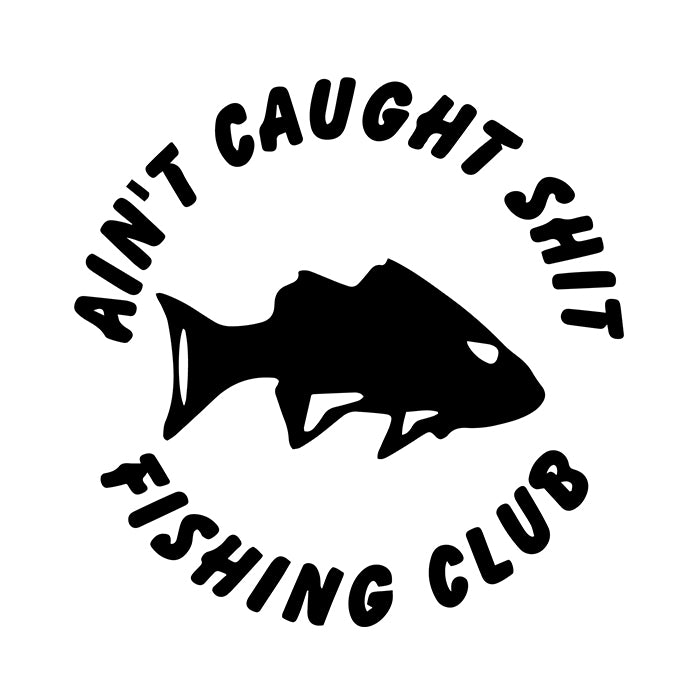 Caught Shit Fishing Club Decal Sticker