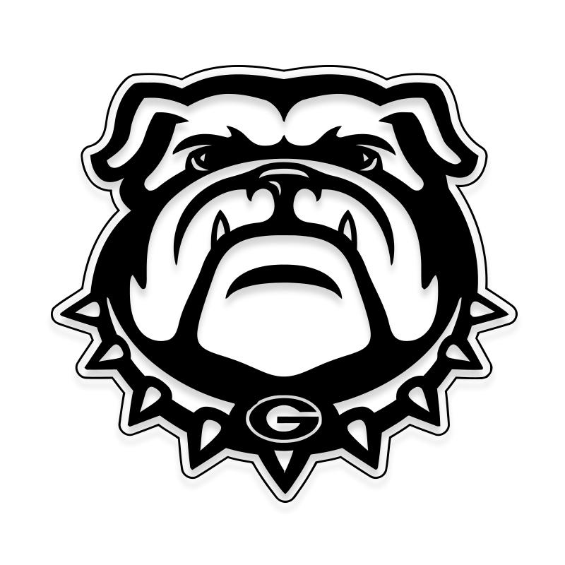 Georgia Bulldogs Car Decal