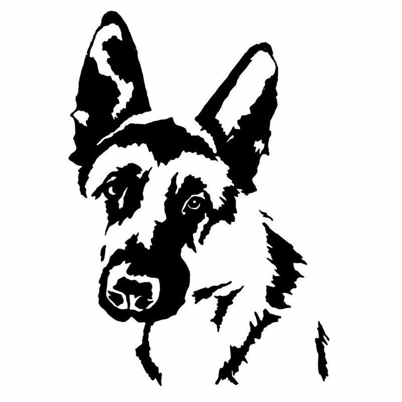 German Shepherd Face Dog Car Decal Sticker