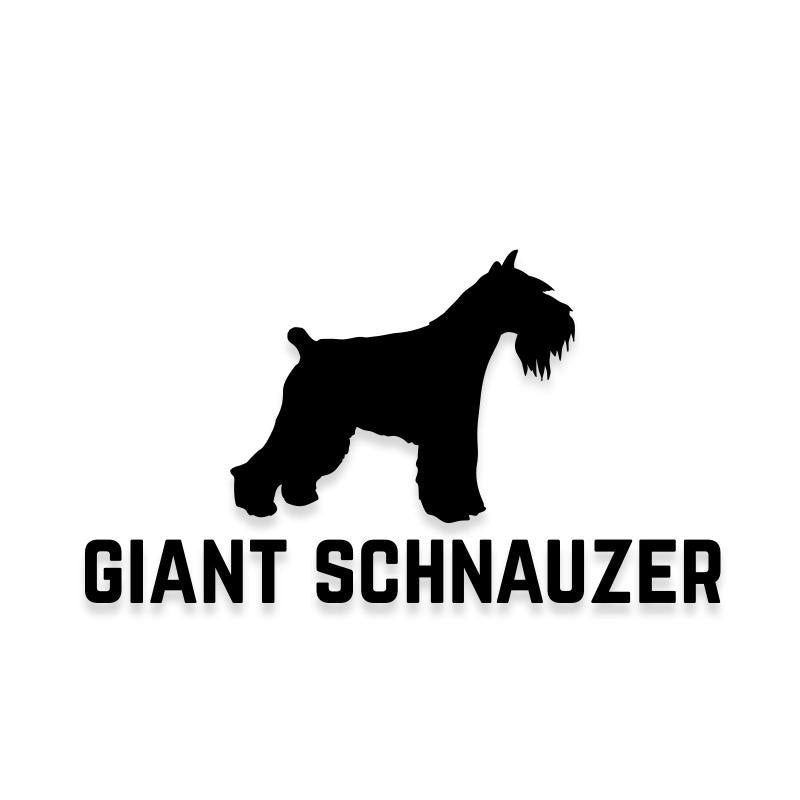 Giant Schnauzer Car Decal Dog Sticker for Windows
