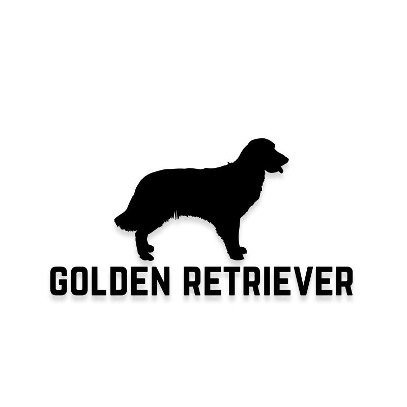 Golden Retriever Car Decal Dog Sticker for Windows