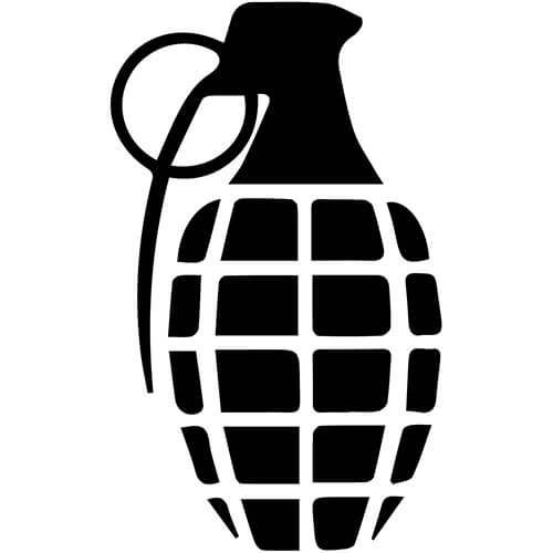 Grenade Decal Sticker