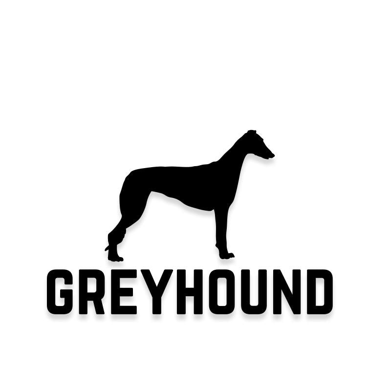 Greyhound Car Decal Dog Sticker for Windows
