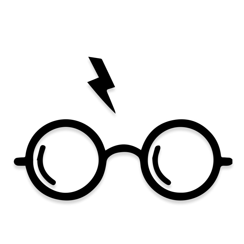 Harry Potter Glasses Lightning Vinyl Decal