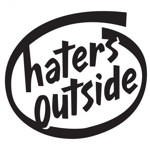 Haters Outside Decal Sticker