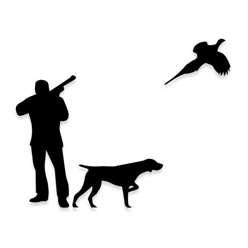 Hunting Bird Duck Dog Decal Sticker