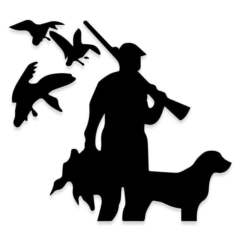 Hunting Bird Geese Dog With Dog Decal Sticker