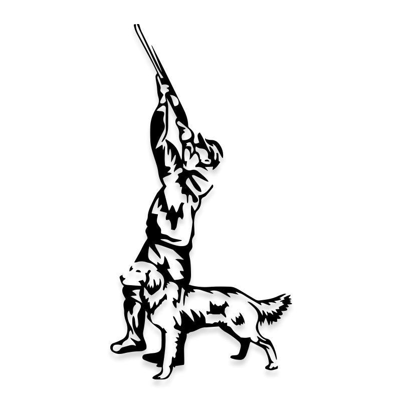 Hunting Dog Bird Decal Sticker