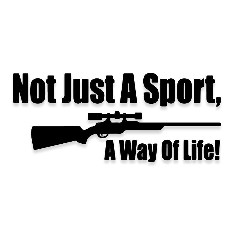 Hunting Rifle A Way of Life Funny Decal Sticker