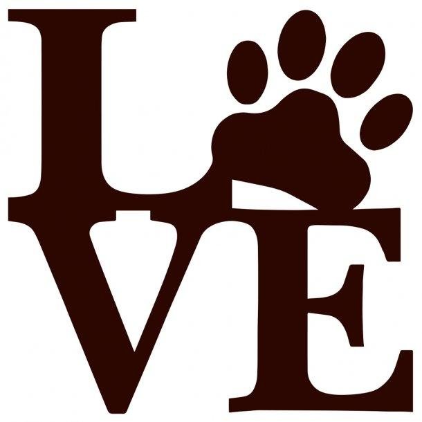 I Love Dogs 2 Decal Sticker