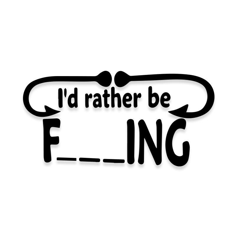 Id Rather Be Fishing Decal Sticker