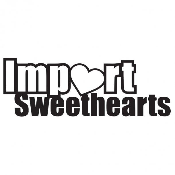 Import Sweethearts Decal Sticker