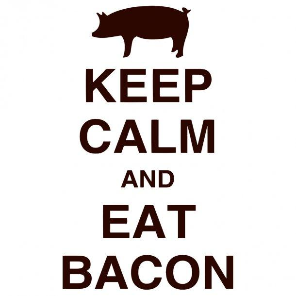Keep Calm And Eat Bacon Decal Sticker