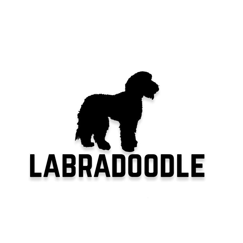 Labradoodle Car Decal Dog Sticker for Windows