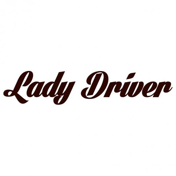 Lady Driver2 Decal Sticker