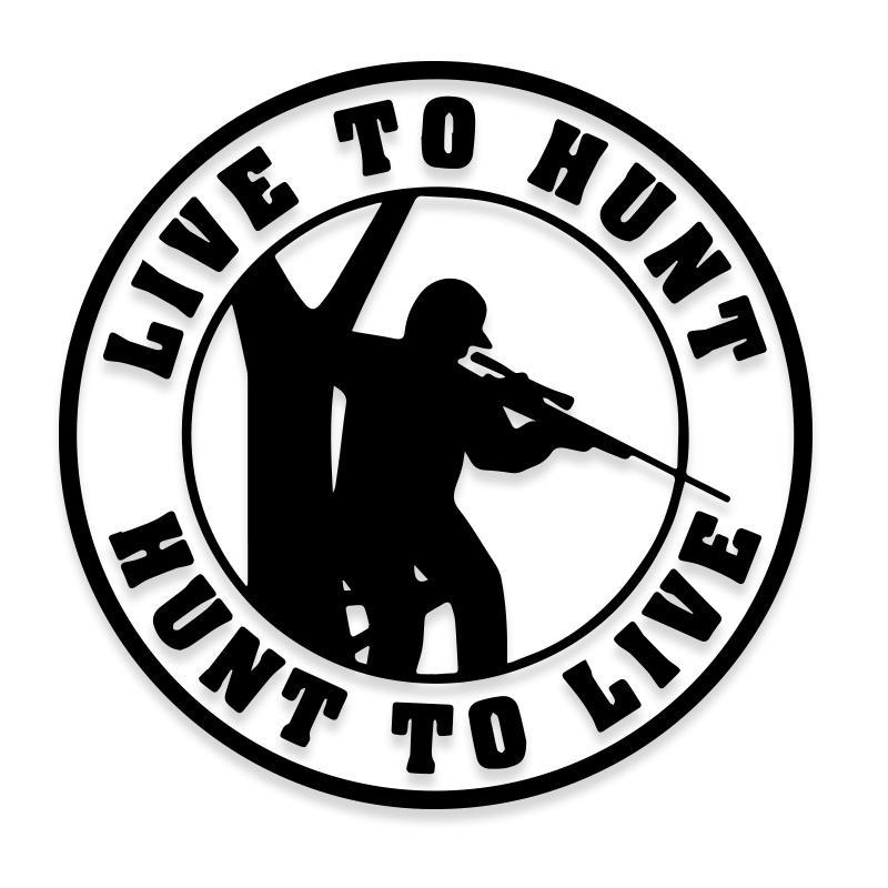 Live to Hunt Decal Sticker