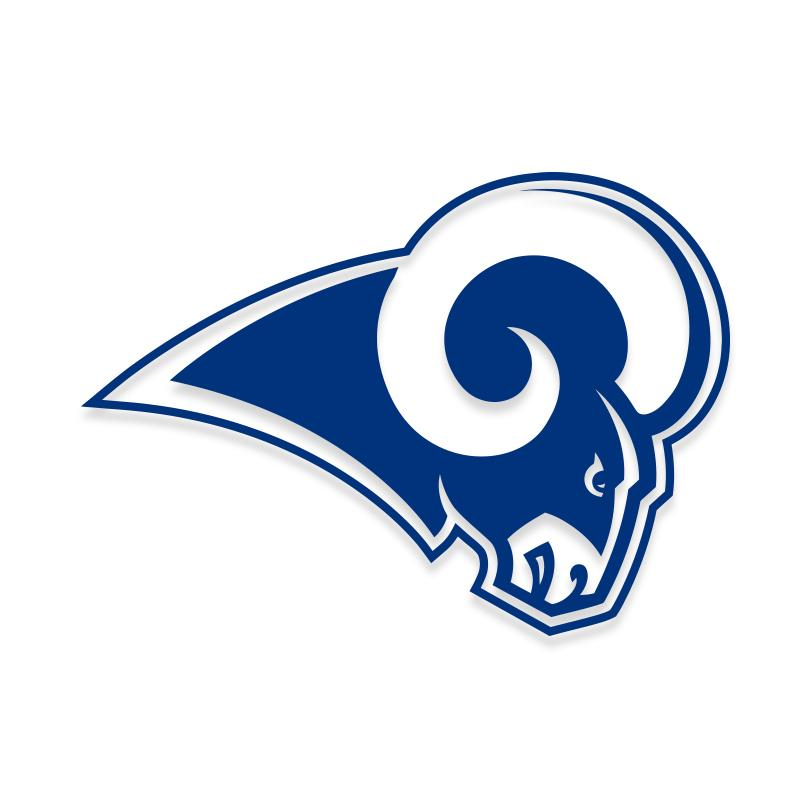Los Angeles Rams Decal Sticker for Car Windows