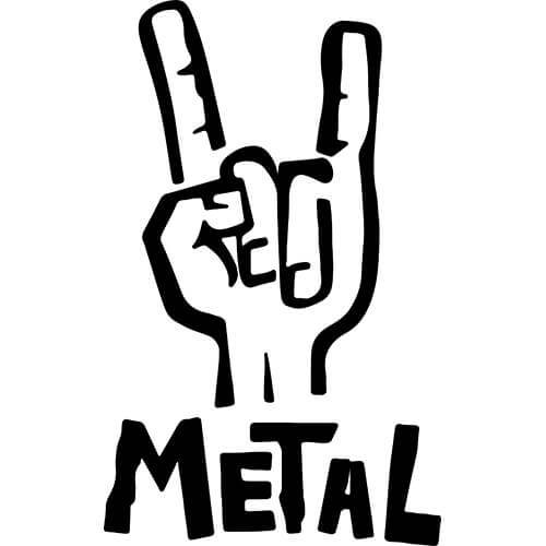 Metal Hand Sign Decal Sticker