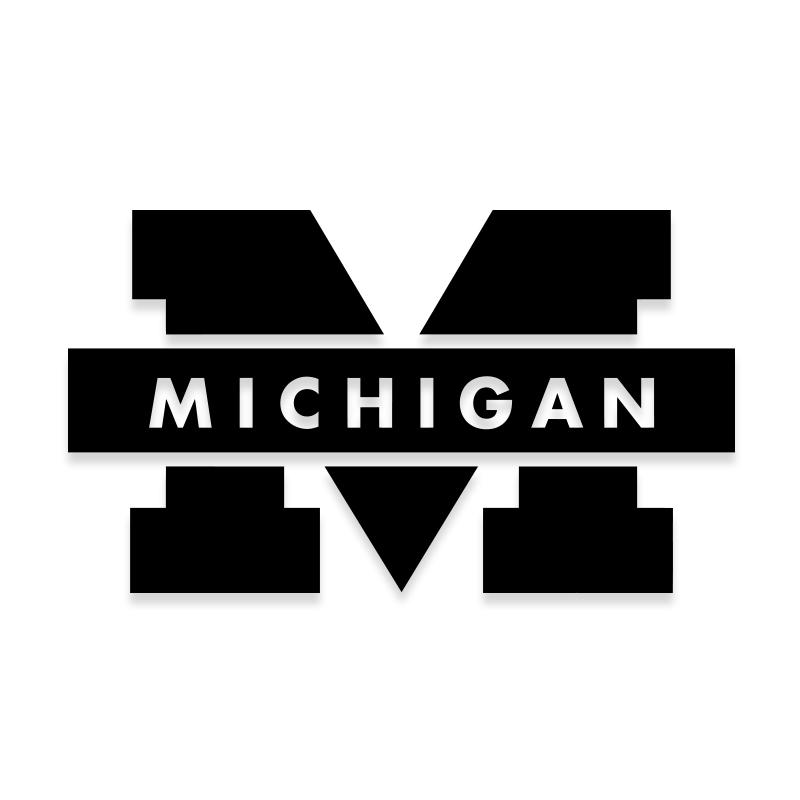 Michigan Wolverines University Official Decal