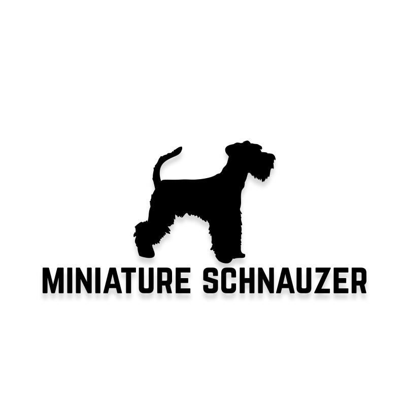 Miniature Schnauzer Car Decal Dog Sticker for Windows