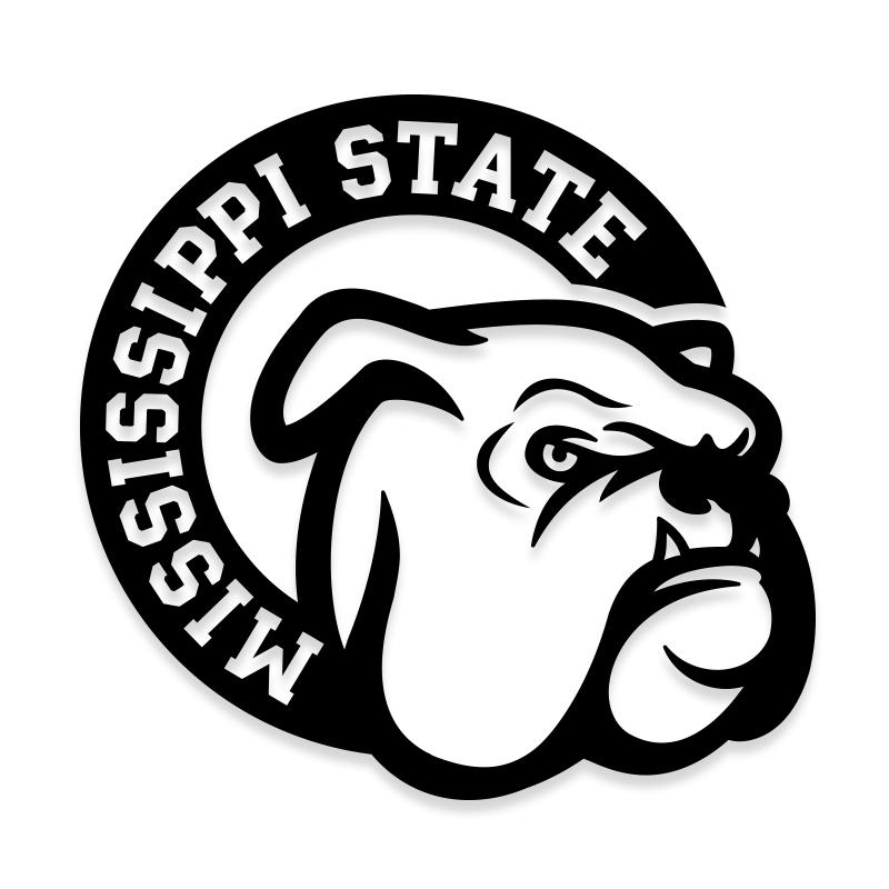 Mississippi State Bulldogs Car Decal