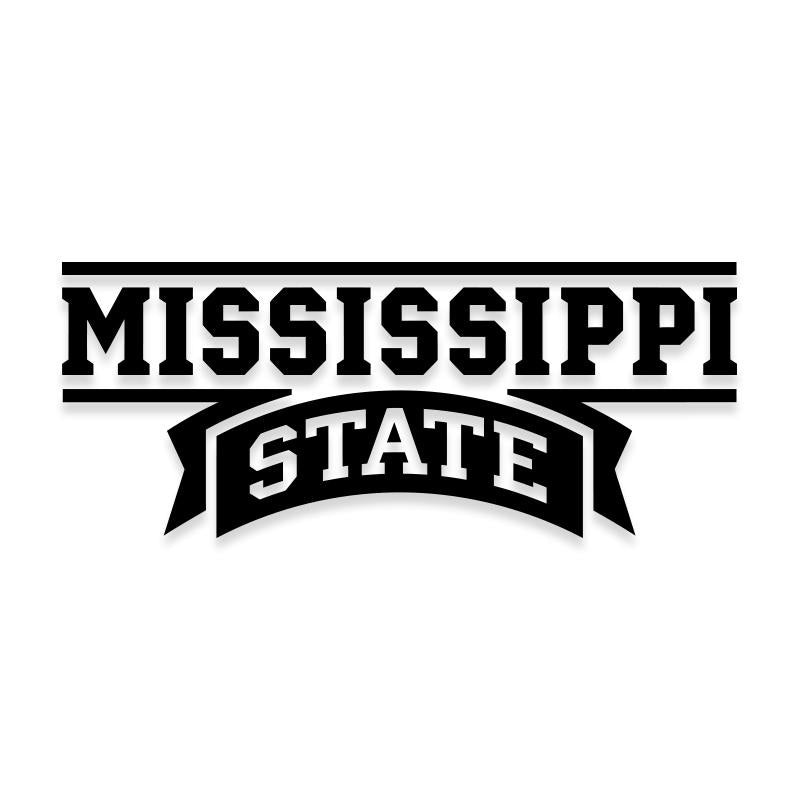 Mississippi State Car Decal Sticker
