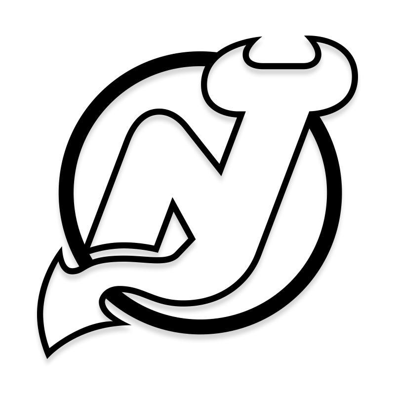 New Jersey Devils Decal Sticker Official NHL Logo