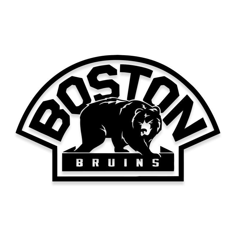 NHL Boston Bruins Logo Decal Sticker with Bear