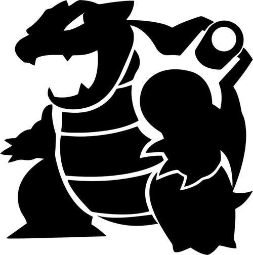 Pokemon Go Blastoise Decal Sticker