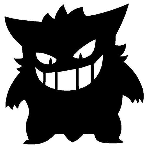 Pokemon Go Gengar Decal Sticker
