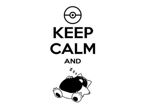 Pokemon Go Keep Calm And Snorlax Decal Sticker