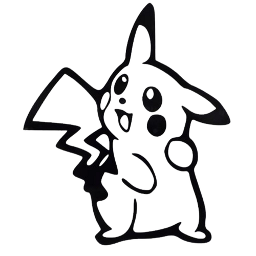 Pokemon Go Pikachu v2 Decal Sticker