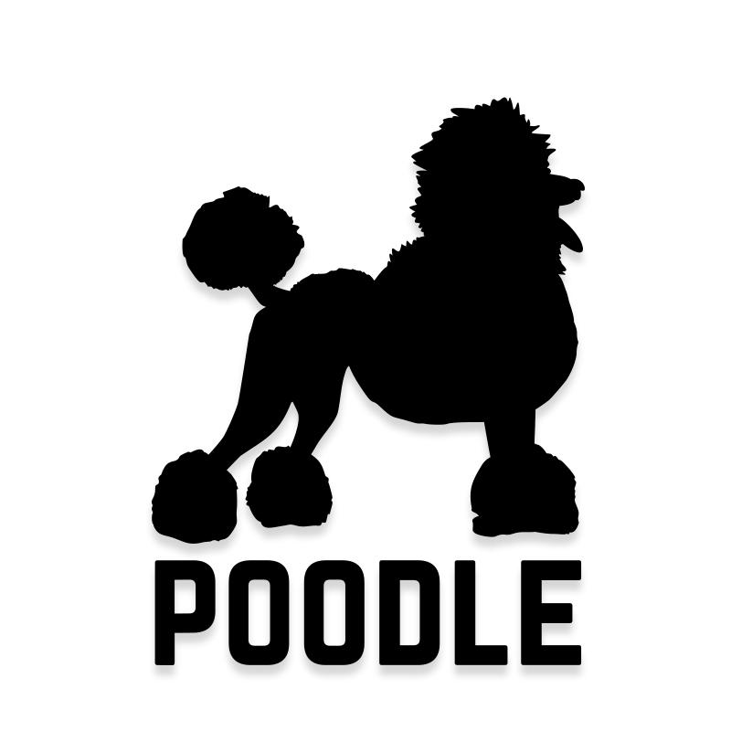 Poodle Car Decal Dog Sticker for Windows