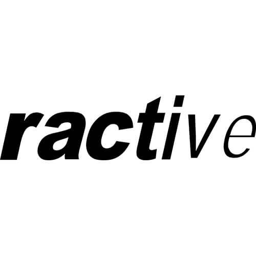 ractive Logo Decal Sticker