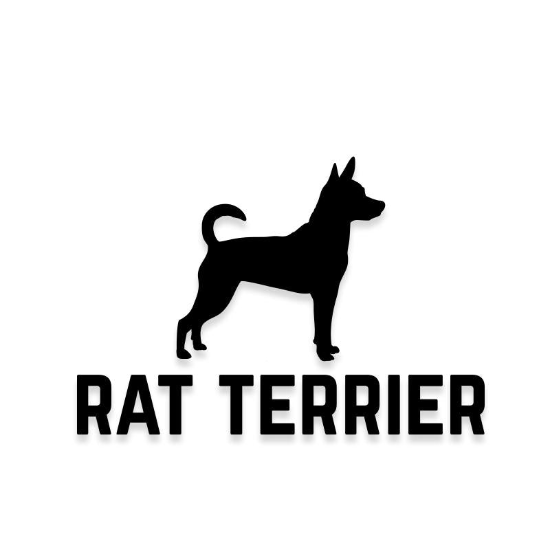 Rat Terrier Car Decal Dog Sticker for Windows