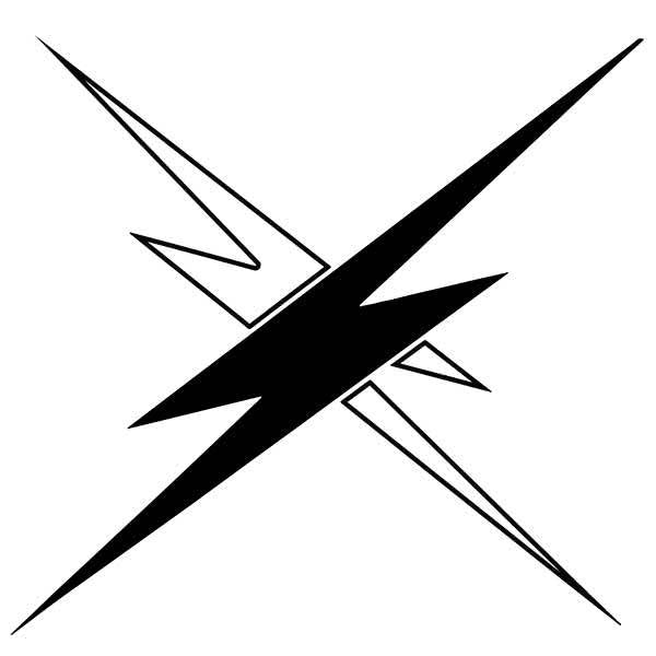 Raven Band Lightning Bolts Decal