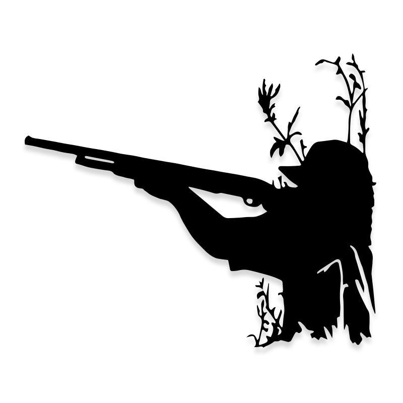 Rifle Hunting Camo Truck Decal Sticker
