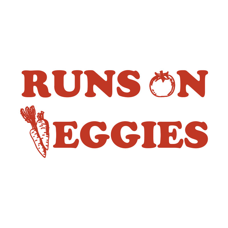 Runs on Veggies Vegan Vinyl Decal
