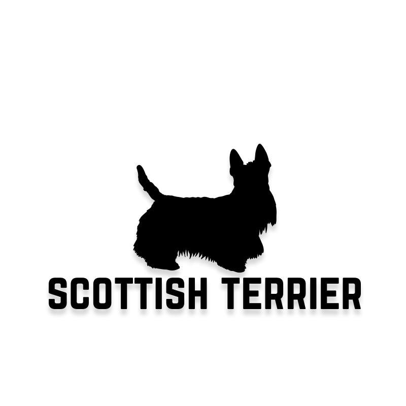 Scottish Terrier Car Decal Dog Sticker for Windows