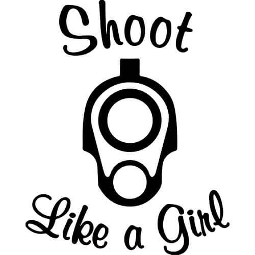 Shoot Like A Girl Decal Sticker