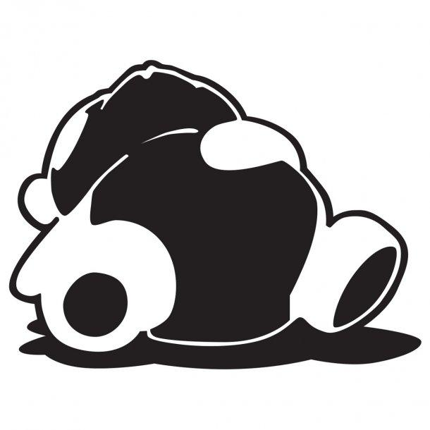 Sleepy Panda 1 Decal Sticker