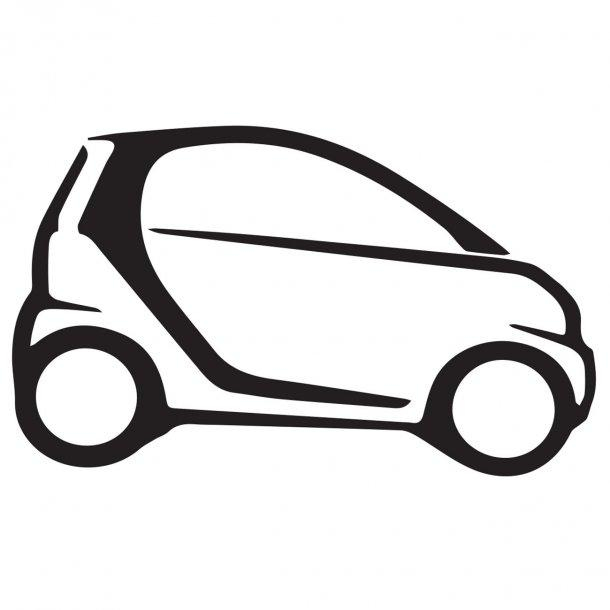 Smart Car Decal Sticker
